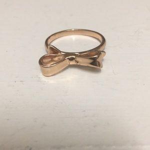 rose gold kate spade bow ring